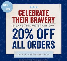Save 20% on EVERYTHING at GreenBox Art + Culture, @Tricia Walter Daisy, Fine Art For Kids , and @Wheatpaste Art Collective  - Veterans Day Sale