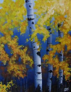 birch tree painting by michael - Google Search