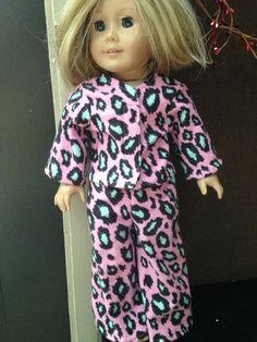 "Pink Cheetah Flannel Pajama Set - Fits 18"" Dolls like American Girl on Etsy, $7.00"