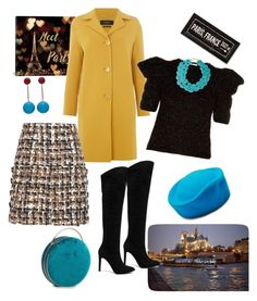 """""""Winter in Paris🗼🖼"""" by parnett ❤ liked on Polyvore featuring iCanvas, MaxMara, Dolce&Gabbana, Yves Saint Laurent, Pura López, J.W. Anderson and Ralph Lauren"""