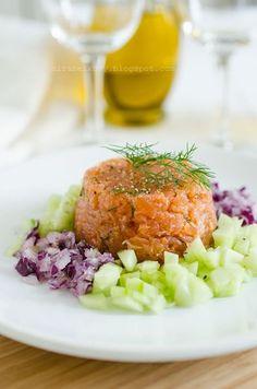 #Tatar z łosisoa firmy #Suempol - propozycja podania #salmon #łosoś