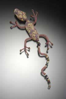 photo of lizard pin.