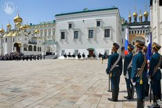 Ready to start. - Guard Mounting - Moscow Kremlin.