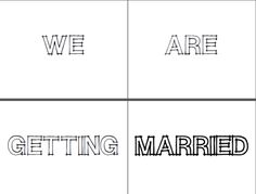 We are getting married photo booth signs!