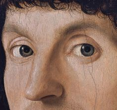 Antonello da Messina (1430–1479) Portrait of a Man circa between 1475 and 1476 oil on panel (detail) Thyssen-Bornemisza Museum #messina #sicilia #sicily