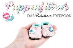 Puppenflitzer the push FREEBOOK is here ! Every doll Mummy knows how much the little feet are always freezing - but that has finally come to an end, because the dolls version of the Puschen EBooks Li Diy Clothes Kimono, Doll Clothes, Toddler Shoes, Baby Shoes, Couture Sewing, Baby Born, Baby Kind, Doll Shoes, Decorating Blogs