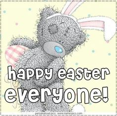 passer Source by Easter Messages, Easter Wishes, Tatty Teddy, Easter Quotes, Easter Sayings, Teddy Bear Quotes, Easter Wallpaper, Teddy Bear Pictures, Blue Nose Friends