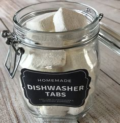 easy-to-make homemade natural dishwasher detergent tabs and they REALLY WORK! Cleans stuck-on food, gets silverware shiny, & glasses sparkling! DIY essential oil recipe for dishwasher detergent tabs Natural Cleaning Recipes, Homemade Cleaning Products, Natural Cleaning Products, Natural Products, Cleaning Tips, Green Cleaning, Dishwasher Tabs, Dishwasher Detergent, Laundry Detergent