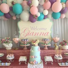 Shabby Chic - Vintage Mermaid Baby Shower Party Ideas | Photo 8 of 15
