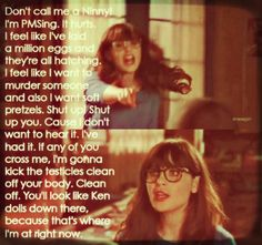 When I try to get someone new to watch, this is what I usually quote.  Menzies is my go to episode. #NewGirl Mean Jokes, Someone New, Tv Show Quotes, How I Met Your Mother, Ken Doll, Girl Humor, Me As A Girlfriend, New Girl, Just For Laughs