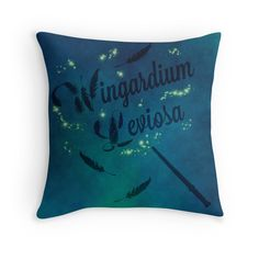 "Harry Potter, ""Wingardium Leviosa"" Throw Pillow $19.84"
