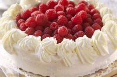 Norwegian Food, Norwegian Recipes, Raspberry, Cheesecake, Food And Drink, Fruit, Cheese Cakes, Raspberries, Cheesecakes