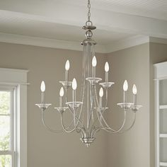 Birch Lane™ Alexandra 9-Light Candle-Style Chandelier    Dining Room?