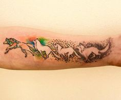 watercolor wolf tattoo design (20)