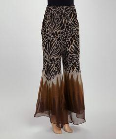 Another great find on #zulily! Brown Giraffe Swirl Divided Skirt #zulilyfinds