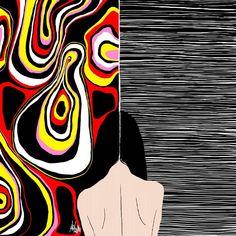 Equilibrio (2017) #aliciarihko #albumcover #artwork #digitalwork #balance #artists #ink #line #battle #anxiety #illustrator #newartwork #newartist