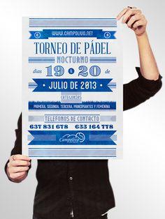 Cartel Torneo de Padel Campolivo