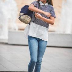 DASHA-mochila-azul-marino-piel-velvet-blover-2_640x960 Velvet, Skinny Jeans, Pants, Fashion, Navy Blue, Backpacks, Handbags, Skinny Fit Jeans, La Mode