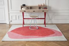 Hyppolite desk by Florence Watine Gustave stool by Charles Seuleusian Jane rug by Pauline Gilain