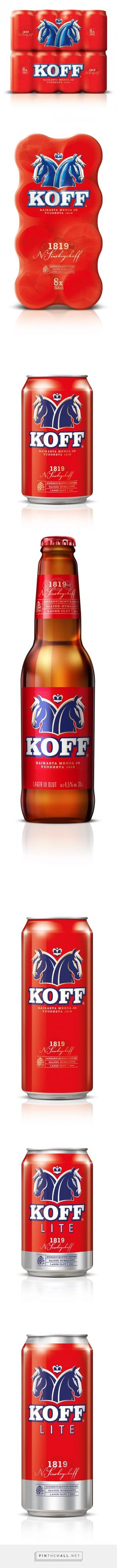 Koff Beer Packaging designed by Taxi Studio (UK) - http://www.packagingoftheworld.com/2016/01/koff.html