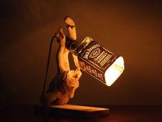 Jack Daniel's  driftwood lamp by TurnEmOnDesign on Etsy