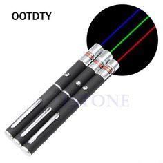OOTDTY 5 mw Puissant Pointeur Laser Pen Faisceau de Lumière 500-1000 Mètre Présentateur À Distance Pointeur 3 Couleurs Laser Verde Longueur d'onde 405nm