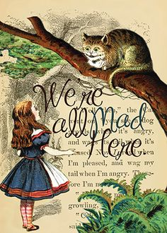 DK Alice in Wonderland We're All Mad Here Limited Edition Print All Falls Down, Were All Mad Here, Living Room Colors, Limited Edition Prints, Movies And Tv Shows, Alice In Wonderland, Nerd, My Arts, Fantasy