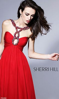 LOVE THE NECK and i really want a red prom dress