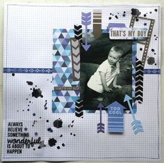 Off The Wall Collection : That's My Boy layout by Amanda Baldwin