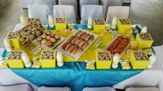 Despicable Me Party, table, decor , lunch