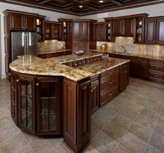 Modern And Trendy Kitchen Cabinets Ideas And Design Tips – Home Dcorz Solid Wood Kitchen Cabinets, Solid Wood Kitchens, Kitchen Cabinetry, Kitchen Flooring, Rta Cabinets, Cherry Wood Kitchens, Cherry Wood Cabinets, Kitchen Countertops, Soapstone Kitchen