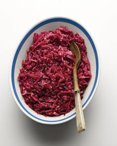Cabbage, vinegar, red currant jelly
