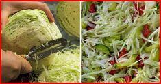 Obțineți cea mai gustoasă salată de varză, asezonând-o cu sos delicios de miere! Salata se prepară din ingrediente simple și accesibile, este foarte apetisantă, gustoasă și crocantă. Sosul de miere oferă salatei un gust unic, care te cucerește de la prima gustare. Savurați salata ca gustare sau alături de bucatele din carne. INGREDIENTE -500 g de varză -1-2 ardei grași -3-4 castraveți marinați -1 ceapă Notă: Vezi Măsurarea ingredientelor INGREDIENTE PENTRU SOS -1.5 linguri de miere -1… Healthy Salad Recipes, Vegan Recipes, Cooking Recipes, Appetizer Salads, Appetizers, Russian Recipes, Russian Foods, Confectionery, Pickles