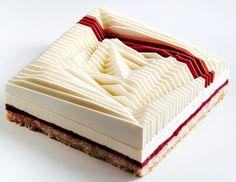 dinara kasko + jose margulis create geometrical kinetic tarts out of 3D moulds