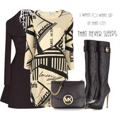 """""""Micheal Kors Bag and Boots"""" by dakota-cross on Polyvore"""