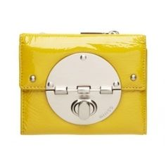 Mimco Turn Lock Wallet in Canary Yellow