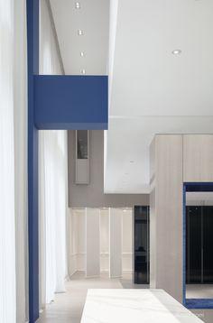 尔我空间设计研究室 Color Scale, Lobby Lounge, Blue Block, Main Entrance, Floor Space, Second Floor, Mirror, Interior Design, The Originals
