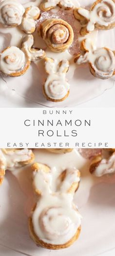 Bunny Cinnamon Rolls Easy Easter Bunny Cinnamon Rolls are made from scratch or a can, your choice! These cute rolls are a perfect Easter brunch recipe or a themed baby shower. They are so easy and they are a great recipe to make with the kids. Easter Snacks, Easter Treats, Easter Food, Easter Appetizers, Easter Decor, Easter Eggs, Easter Bunny Cake, Easter Centerpiece, Easter Dinner