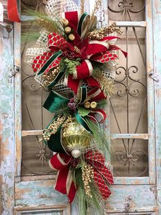 Christmas Door Swags, Christmas Wreath, Outdoor Swags, Christmas Door Decor