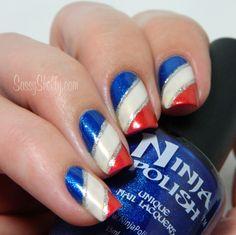 4th of July Nail Art.. All Accent Nails! - Sassy Shelly