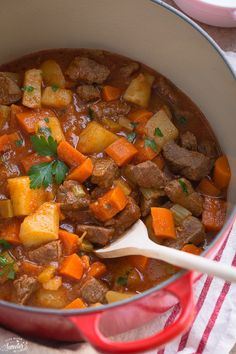 Classic Homemade Beef Stew is the best comforting dish on a cold day. It's so easy to make with tricks to create the perfect fall-apart tender meat we love.