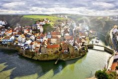 Staithes, viewed from Cowbar Nab.