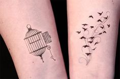 Wrist birds and cage