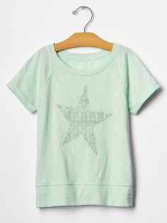 Embellished graphic banded tee Product Image