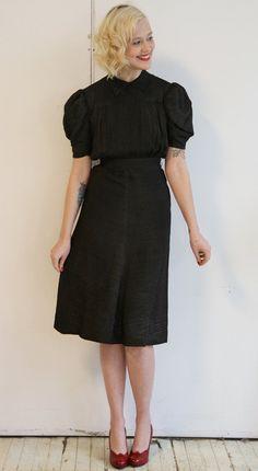 1940s Dress // vintage 40s dress // Shining Starlet. $114.00, via Etsy.
