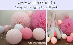 10 kul Cotton Ball Lights- świecące kule - ArtPompon - Girlandy