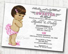 Girl Baby Shower Invitation Vintage Baby Shower by jjMcBean