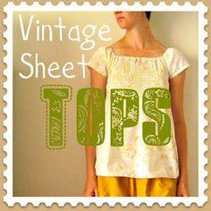 vintage sheet tops