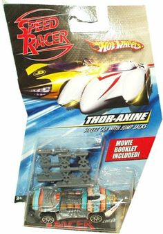 Thor-Axine Hot Wheels Car with Jump Jacks - Speed Racer Hot Wheels Car by Matel. $4.99. 1:64 Hot Wheels Car with Attachable AccessoryAny Accessory Can Be Attached to the CarCollect them All To Create Your Own Rally with Speed Racer and Company