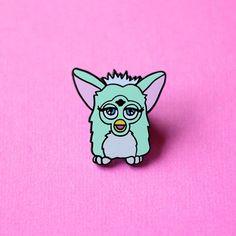 Menthe Furby émail vert 90 ' s broche par TeesAndTankYouShop